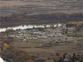 Saskatoon's wastewater treatment plant is seen in this aerial photo in Saskatoon, SK on Tuesday, October 2, 2018.