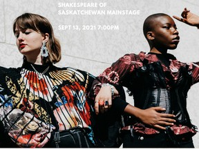 COSMOS, a collaboration between poet Peace Akintade-Oluwagbeye and musician Micah Jane is being performed at the Shakespeare on the Saskatchewan site on Sept. 13. (Provided: Shakespeare on the Saskatchewan)