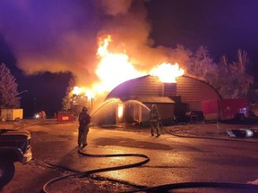 Kenosee Lake's landmark restaurant and nightclub, the Moosehead Inn, was destroyed by a fire on Sept. 11, 2021. (Photo courtesy Brad Chapman)