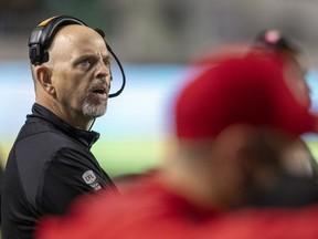 Head coach Craig Dickenson and the Saskatchewan Roughriders have questions to answer after Saturday's 22-19 loss to the visiting Calgary Stampeders.