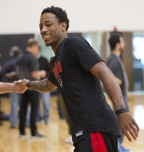 Raptors' DeMar DeRozan thinks a change in the team's playing style will only bring good. (STAN BEHAL/Toronto Sun)