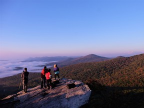An early morning hike up Rough Ridge is a great way to start your day in North Carolina. JIM BYERS PHOTO