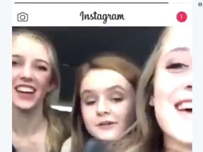 Female students from Weber High School in Pleasant View, Utah are seen in an Instagram video yelling racial slurs.