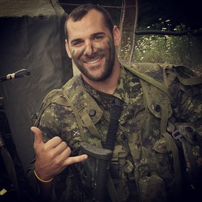 Nathan Cirillo is pictured in this undated Instagram photo. Cirillo was shot and killed while standing guard at the National War Memorial in Ottawa on Oct. 22, 2014. (Instagram)