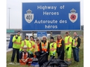Members of the Toronto Police Service Child Exploitation Unit on along with Miller Mainteance Rob Baiird, and Kerri Tadeu and retired Master Cpl Collin Fitzgerald on the last day of the journey to clean the Highway of Heroes. Over the course of 11 days the Highway of Heroes from Trenton to Toronto was cleaned up by volunteers. Volunteers made up of veterans, civilians, soldiers, police officers, and the fallen parents of soldiers volunteered their time to clean up the ramps along Highway 401. Pete Fisher Pete Fisher, Pete Fisher