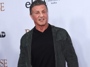 Sylvester Stallone attends the premiere of 'The Promise' at the Chinese theatre in Hollywood, on April 12, 2017. / AFP PHOTO / CHRIS DELMAS (Photo credit should read CHRIS DELMAS/AFP/Getty Images)