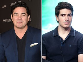 Dean Cain, left, and Brandon Routh are pictured in file photos. (Joshua Blanchard/Frederick M. Brown/Getty Images)
