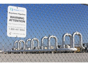 In this Nov. 3, 2015 file photo, the Keystone Steele City pumping station, into which the planned Keystone XL pipeline is to connect to, is seen in Steele City, Neb. Nebraska has approved TransCanada's Keystone XL route in a 3 to 2 vote, clearing the last major regulatory hurdle for the controversial project. THE CANADIAN PRESS/AP/Nati Harnik