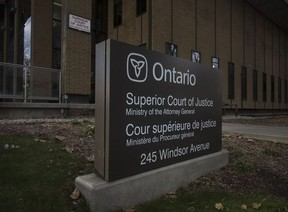 Superior Court of Justice is pictured on Nov. 22, 2017. DAX MELMER / WINDSOR STAR