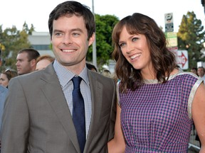 Actor Bill Hader and writer/director Maggie Carey attend the premiere of CBS Films' 'The To Do List' on July 23, 2013 in Westwood, California. (Alberto E. Rodriguez/Getty Images)
