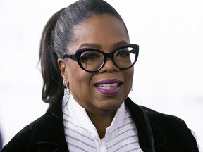 In this Oct. 21, 2017 file photo, Oprah Winfrey arrives for the David Foster Foundation 30th Anniversary Miracle Gala and Concert, in Vancouver.