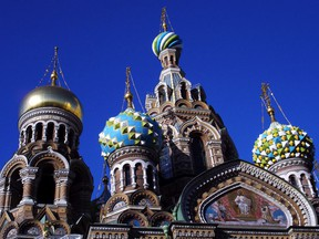 St. Petersburg's Church on Spilled Blood, with its fairy-tale onion domes, commemorates the spot where anarchists assassinated Russian Csar Alexander II.