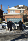 A woman was found slain in a home on Marmac Cr. in Mississauga, one of three murders in two separate overnight incidents that Peel Regional Police were investigating on Saturday, Jan. 13, 2018.