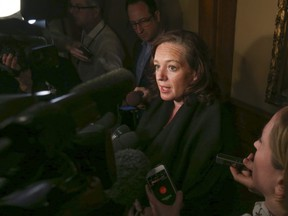 Progressive Conservative MPP Lisa MacLeod speaks to the media at Queen's Park on Friday, January 26, 2018. Jack Boland/Toronto Sun