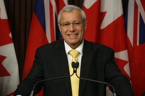 Ontario PC party interim leader Vic Fedeli speaks to the media at Queen's Park on Friday January 26, 2018. Jack Boland/Toronto Sun