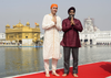 Prime Minister Justin Trudeau and Minister of National Defence Minister Harjit Singh Sajjan visit the Golden Temple in Amritsar, India on Wednesday, Feb. 21, 2018.