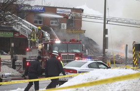 Five people were hurt in an explosion in the Dundas-Hurontario Sts. area. (JACK BOLAND, Toronto Sun)