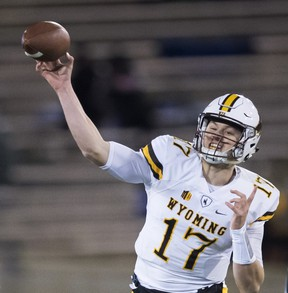 Wyoming quarterback Josh Allen could go first overall in this year's NFL draft. (AP PHOTO)