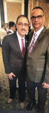 Federal Minister of Infrastructure and Communities, Amarjeet Sohi, with Jaspal Atwal this week