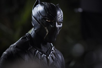 This image released by Disney shows Chadwick Boseman in a scene from Marvel Studios'