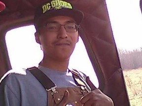 Colten Boushie gives a thumbs up after completing a recent firefighting course. The 22-year-old was fatally shot on Aug. 9, 2016 in the R.M. of Glenside, Sask. (Submitted photo)