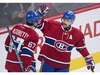 Montreal Canadiens' captain Max Pacioretty (67) celebrates with teammate Tomas Plekanec after scoring on the Ottawa Senators during first period NHL hockey action, in Montreal, on Saturday, Dec. 12, 2015. There is little chance that the Montreal Canadiens can make a late charge and snag a playoff spot, but they continue to soldier on despite the noise over the likelihood that top veterans like Max Pacioretty or Tomas Plekanec will be dealt before the Feb. 26 trading deadline. THE CANADIAN PRESS/Graham Hughes ORG XMIT: CPT134