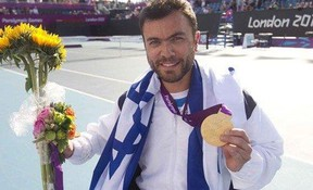Noam Gershony is pictured after he won  a gold medal in wheelchair tennis at the 2012  Paralympics in London, England. (SUPPLIED PHOTO)