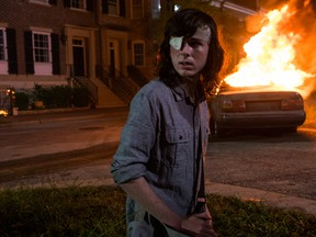 Chandler Riggs as Carl Grimes on The Walking Dead. Photo Credit: Gene Page/AMC