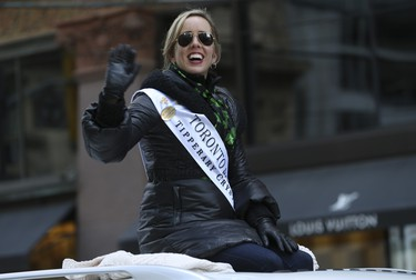 The Rose of Tralee winner for 2018 at the Toronto St Patrick's Day parade on Sunday March 11, 2018. Jack Boland/Toronto Sun/Postmedia Network