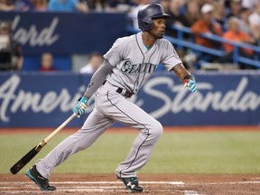 Dee Gordon of the Seattle Mariners has finally been moved back into the infield following the suspension of Robinson Cano. (Tom Szczerbowski/Getty Images)