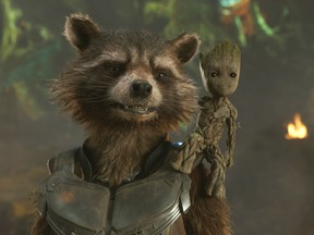 Rocket, voiced by Bradley Cooper, left, and Groot, voiced by Vin Diesel. (Marvel)