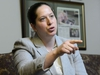 NDP MP Christine Moore takes part in an interview in her office in Ottawa on Friday, May 11, 2018. THE CANADIAN PRESS/Sean Kilpatrick ORG XMIT: SKP102