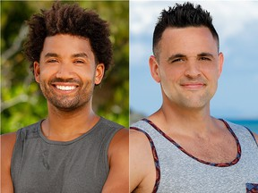 """History was made on """"Survivor: Ghost Island"""" when Wendell Holland Jr.  and Domenick Abbate were tied for first place in the Season 36 finale. Holland Jr. won after third-place finisher Laurel Johnson broke the tie. (CBS)"""
