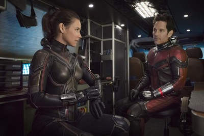 Evangeline Lilly and Paul Rudd in a scene from Ant-Man and The Wasp. (Marvel Studios)