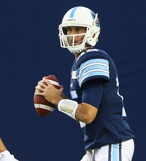 Argos quarterback Ricky Ray will start what could be his final CFL opener on Friday night in Saskatchewan. (DAVE ABEL/TORONTO SUN FILES)