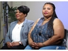 "Alice Marie Johnson, left, and her daughter Katina Marie Scales wait to start a TV interview on Thursday, June 7, 2018 in Memphis, Tenn. Johnson, 63, whose life sentence was commuted by President Donald Trump thanked him on Thursday for ""having mercy"" and said reality TV star Kim Kardashian West saved her life. (AP Photo/Adrian Sainz). ORG XMIT: TNAS101"
