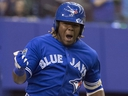 Blue Jays' Vladimir Guerrero Jr. celebrates his walk-off home run to defeat the Cardinals during spring training action March 27, 2018 in Montreal.