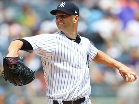 J.A. Happ of the New York Yankees pitches against the Kansas City Royals at Yankee Stadium on July 29, 2018. (Mike Stobe/Getty Images)