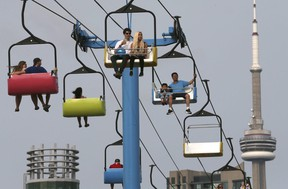 The Sky Ride at the CNE on August 20, 2018. Veronica Henri/Toronto Sun