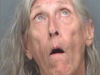 Mary Ellen Stewart, 81, of St. Petersburg was busted in a public park for sitting on a bench topless drinking her box of wine. ST. PETERSBURG POLICE