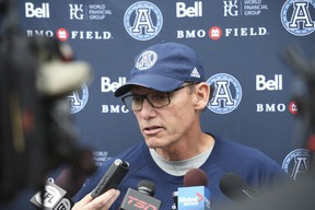 Argonauts head coach Marc Trestman  hasn't been able to adjust and react to the changing landscape with this group, writes Frank Zicarelli. (Jack Boland/Toronto Sun)