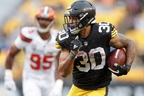 Once again, Steelers running back James Conner was a solid fantasy point producer this week. (AP)