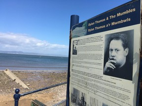 As a boy, Thomas and adventurous friends searched the beach at Mumbles for messages in a bottle. The seaside, the residents and its winding streets were the inspiration for many works. (Lance Hornby/Toronto Sun)