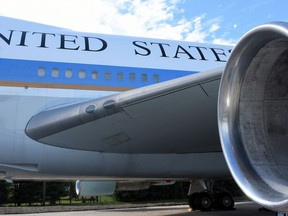 The Air Force One copy that is on exhibit at National Harbor is as tall as a six-story building. (Ann Cameron Siegal)