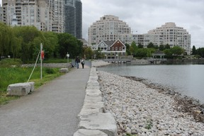 A view of the new trail at Mimico Waterfront Park.