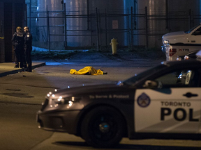 A man was gunned down near Keele St. and Steeles Ave. W. on Tuesday, Oct. 2, 2018. He is the city's 82nd murder victim of the year, the 43rd by gun. (John Hanley photo)