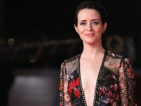 """Claire Foy walks the red carpet ahead of the """"The Girl In The Spider's Web"""" screening during the 13th Rome Film Fest at Auditorium Parco Della Musica.  (Vittorio Zunino Celotto/Getty Images)"""