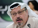 In this Dec. 15, 2014, file photo, Saudi journalist Jamal Khashoggi speaks during a press conference in Manama, Bahrain.