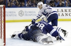 The Lightning and Maple Leafs, the top two treams in the NHL by points, face off on Wednesday night 8, in Tampa, Fla. (Chris O'Meara/The Associated Press)