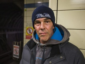 Robert Gauthier visits the Bloor-Yonge subway station in Toronto, Ont. for the first time since his brother, 47, committed suicide last year on Jan. 12, 2017. Ernest Doroszuk/Toronto Sun/Postmedia